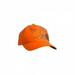 Pomarańczowa czapka Xplorer z nadrukiem pilarki