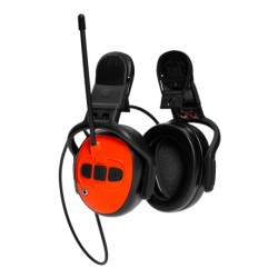 Ochronniki słuchu z radiem FM dołączane do kasku